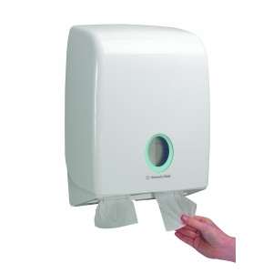AQUARIUS* Toilettissue Dispenser Gevouwen 6990 Wit - Kimberly Clark